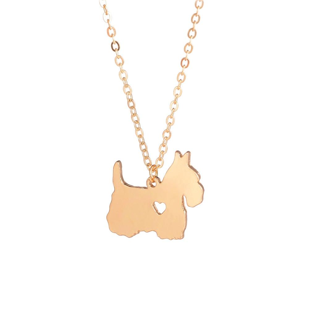 Gold & Silber 1pc Scottish Terrier Halskette Scottie Halskette Custom - Modeschmuck - Foto 2