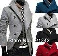 Estilo 2016new sobretudo invierno Masculino abrigo de lana ocasional Clásico de los hombres Chaquetón de lana escudo cuello solo soporte cruzado rompevientos