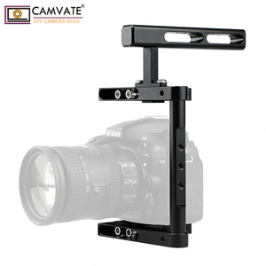 Image 2 - CAMVATE Aluminum Alloy Camera Generic Cage Rig With Top Handle For DSLR Camera Stable Support System Photography Accessories New