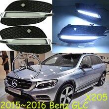 Car-styling, GLC luz diurna, 2015 ~ 2017, GLC, X205, LED, Envío Gratis! 2 unids, car-detector, GLC luz de niebla, coche cubiertas, X 205