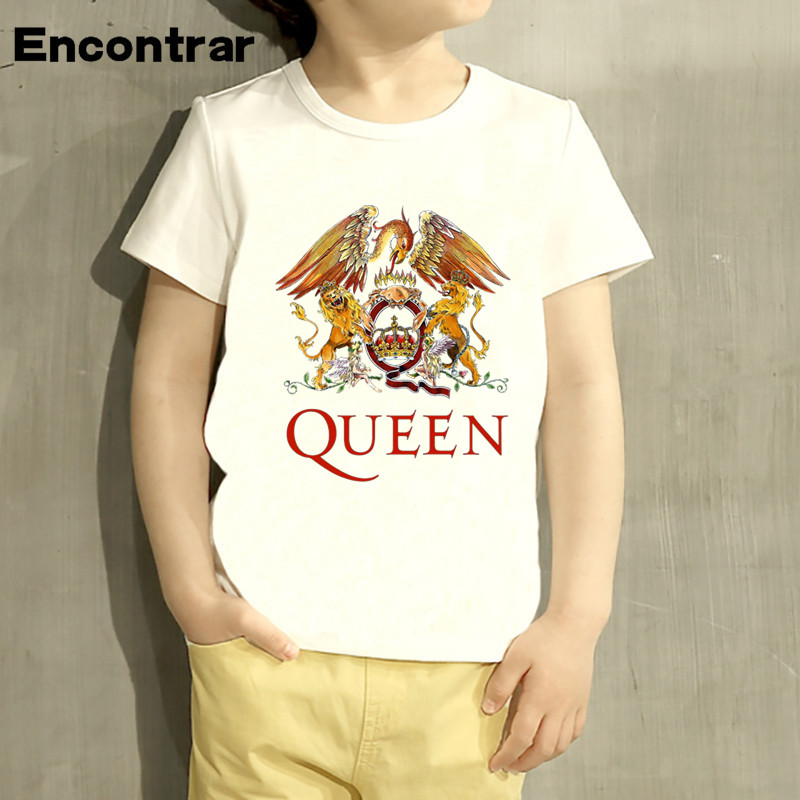 Kids Queen Rock Band Design Baby Boys/Girl TShirt Kids Funny Short Sleeve Tops Children Cute T-Shirt,HKP4083