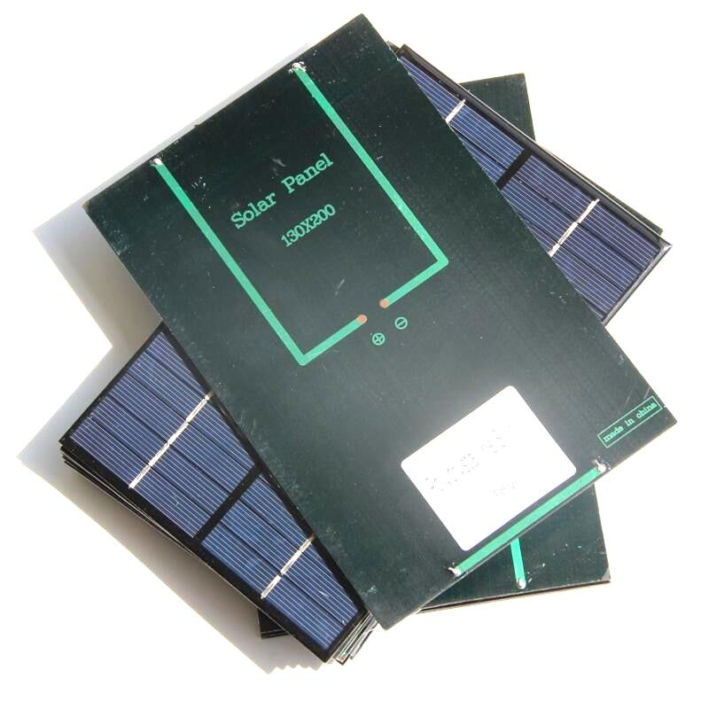 4.2W18V Mini Solar Cell Polycrystalline Solar Panel DIY Panel Solar Power 12V Battery Charger 200*130*3MM 2PCS/Lot Free Shipping