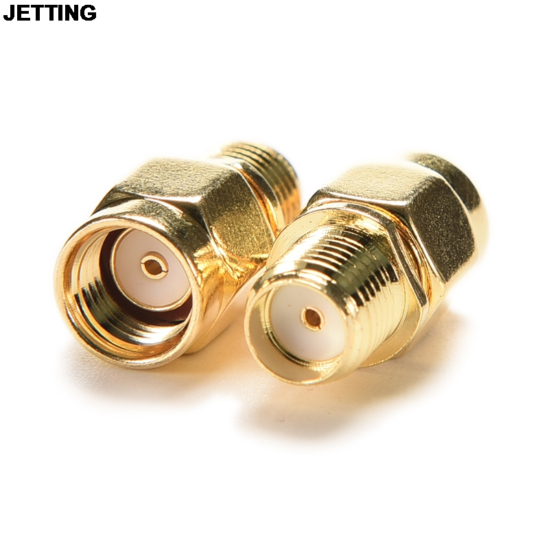 JETTING RF SMA Connector Adapter RP-SMA Male To RP-SMA Female Plug RF Adapter For Wireless Antenna RF Adapter Drop Shipping