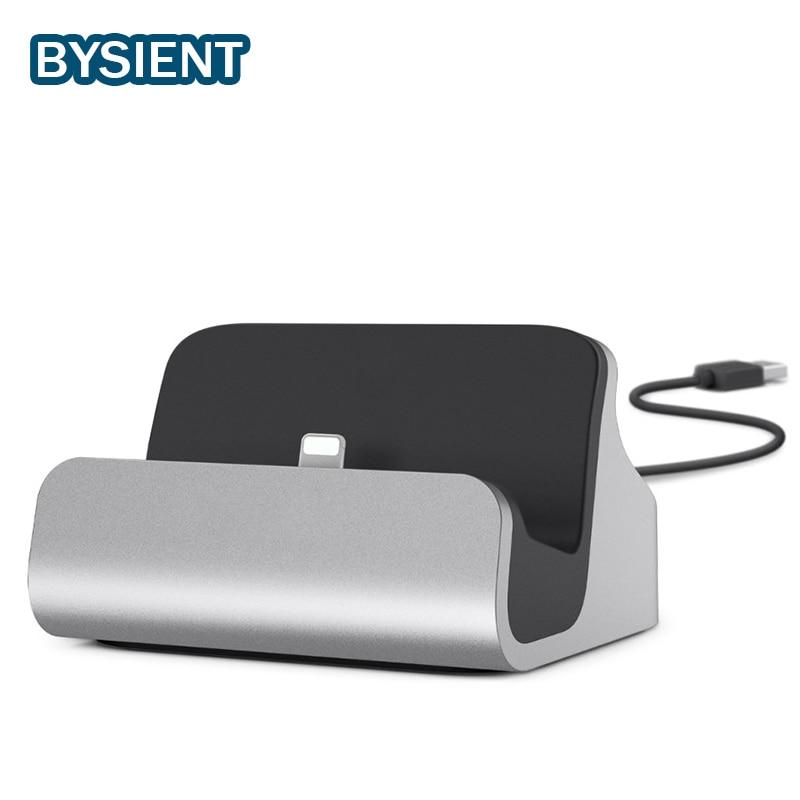 Bysient 2in1 USB Ladegerät Dock Für Apple iPhone 6 iPhone7 Plus 5V2. 4A Halter Stehen Daten Sync iphone 6 7 dock Adapter Station basis