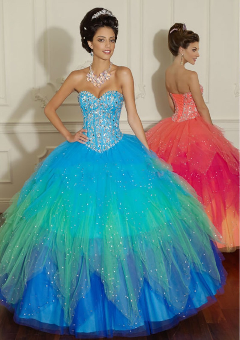 Turquoise and Orange Prom Dresses | Dress images