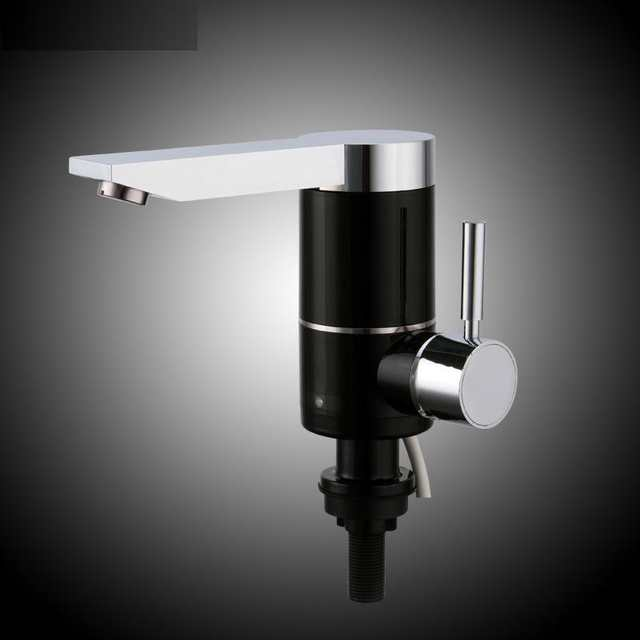 electric tankless water kitchen sink heating faucet instantaneous hot water  heater tap both side and bottom inlet EU power plug