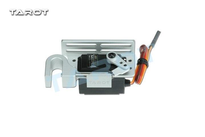 Tarot Parabolic device  package contents conteudo da embalagem Servo Release Hook with servo black silver TL2961-01 TL2961-02