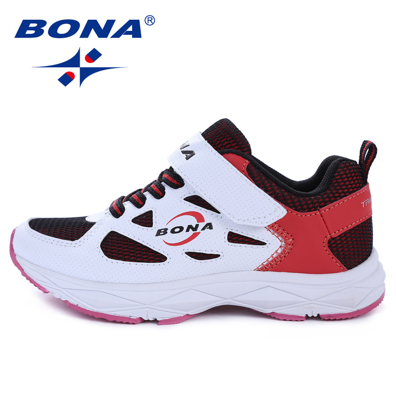 BONA New Arrival Children Walking Shoes Hook & Loop Girls Running Shoes Mesh Upper Boys Outdoor Jogging Shoes Fast Free Shipping hot new ultra light breathable children shoes boys and girls sports shoes running shoes outdoor walking shoes fly woven coconut