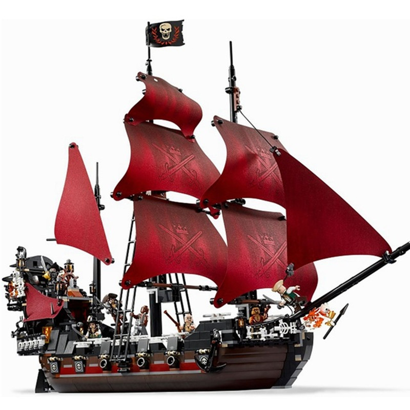 1151pcs Diy Pirates Of The Caribbean Queen Anne's Reveage Model Building Compatible With L Brand Brick Toys Gift For Children 1151pcs battle ship pirates of the caribbean queen anne s revenge 16009 model building blocks toys bricks compatible with lego