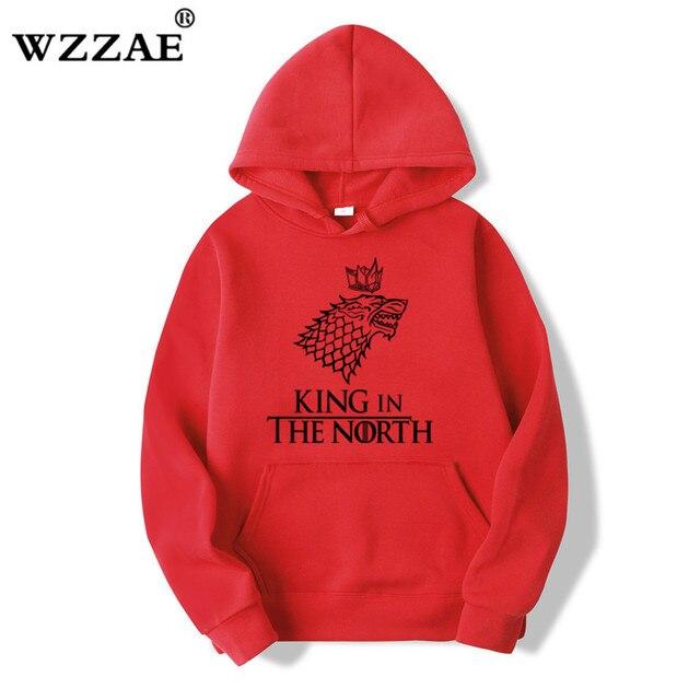 Game of Thrones Wolf hoodies Poleron Hombre Fashion Streetwear Cotton Sweatshirt Pullover Men women Hoodie Sweat mens Hoodies 2