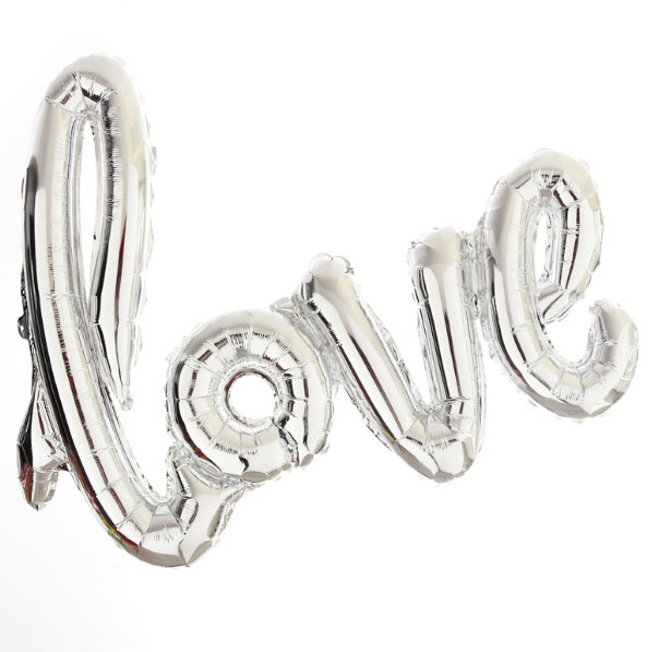 1pcs set 32inch Love Letter Foil Baloon Champagne Love Balloon Wedding Party Decoration Valentines Day Gift Marriage Decor in Ballons Accessories from Home Garden