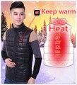 7.4 В 4200 мАч USB Зарядки Электрическое Отопление Одежда Теплый Жилет Зима мужская Мода Теплый Жилет
