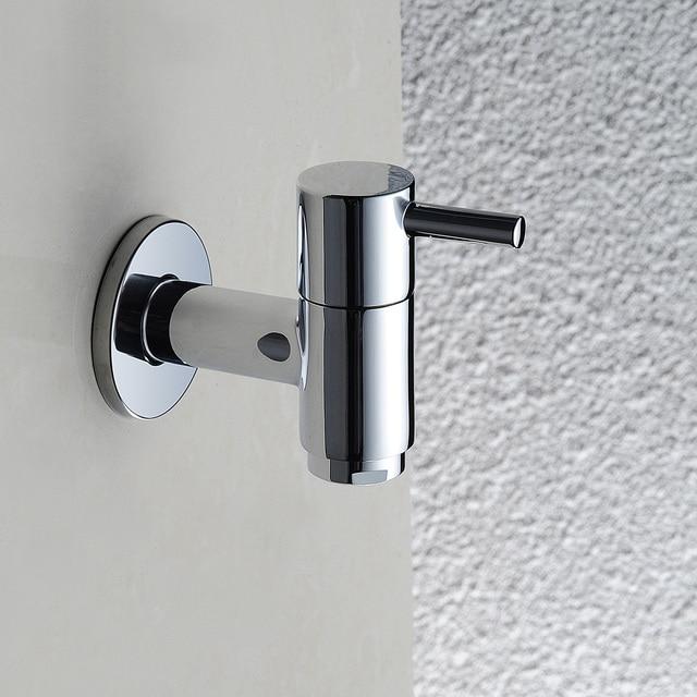 Brass chrome Cold Water Wall Mount Bathroom Mop Pool Taps, Garden ...