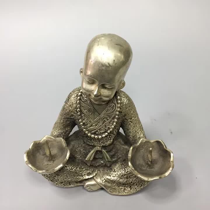 Collection tibet argent moine chandelier, maison/bureau bureau décoration style chinois chandelier métal cadeau