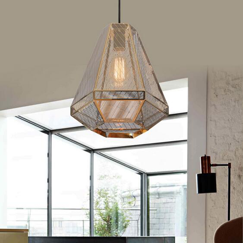 Nordic Pendant Lights modern Pyramid creative stainless steel light Louhua Diamond Hotel Restaurant lamps LU726246 цена