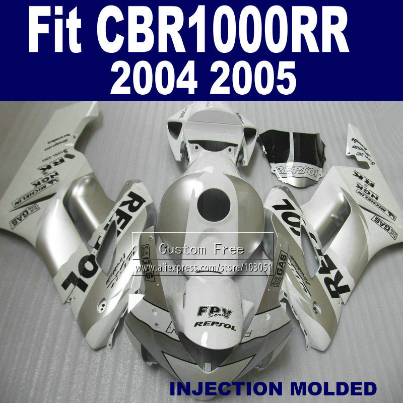 ABS en plastique Injection carénage kits pour Honda 2004 2005 CBR1000RR CBR 1000 RR 04 05 CBR 1000RR blanc repsol carénages parties du corps