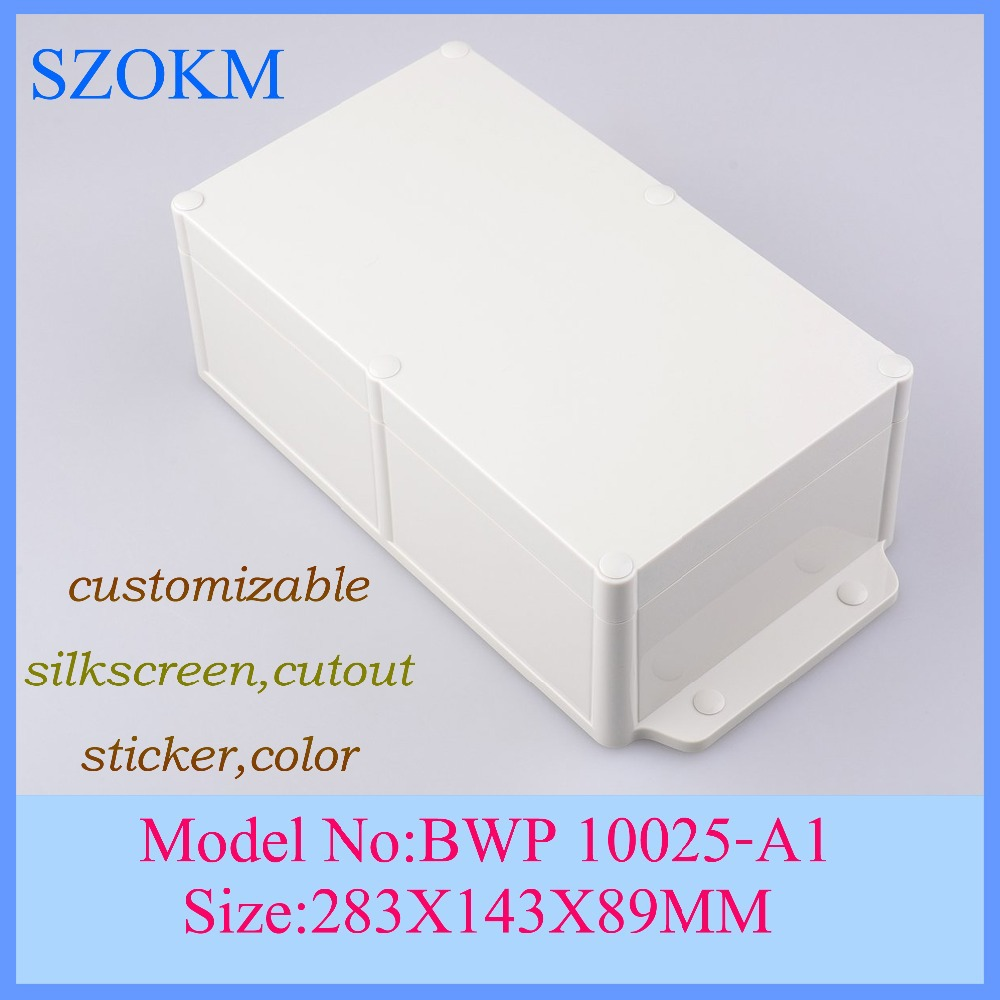 1 piece free shipping plastic enclosure for electronics clear plastic enclosure plastic enclosure box 283x142x89mm 1 piece free shipping plastic enclosure for wall mount amplifier case waterproof plastic junction box 110 65 28mm