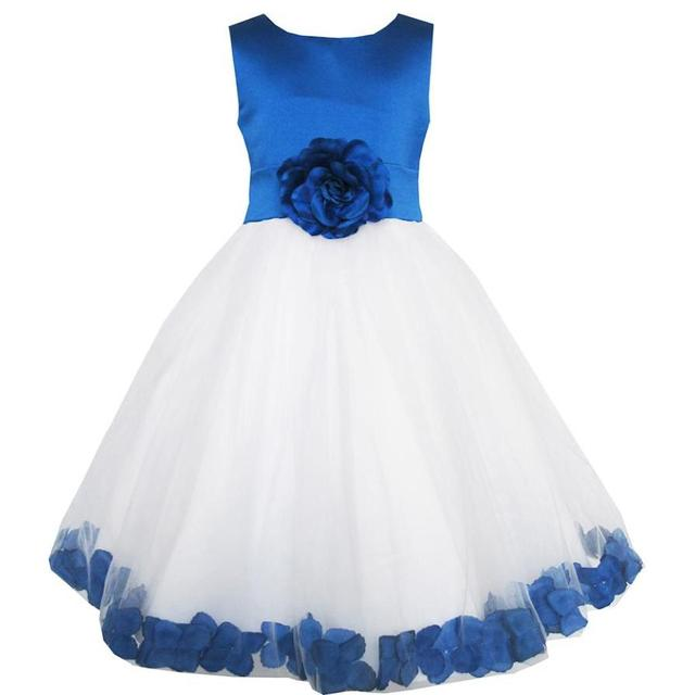 Abiti da damigella bambina blu
