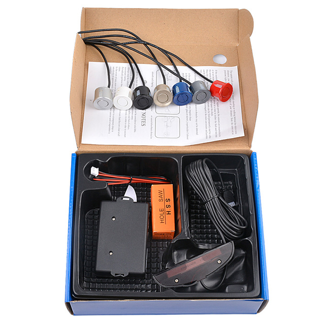 AOSHIKE Car Auto Parktronic LED Parking Sensor with 4 Sensors Reverse Backup Car Parking Radar Monitor Detector System Display 5