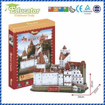 Model nou de puzzle 3D cu România, cu modelul Castelului Bran