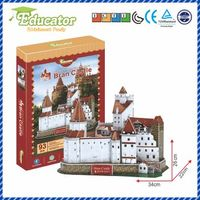 New Model 3D Puzzle with Romania buliding Bran Castle model
