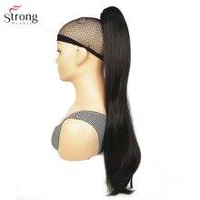 StrongBeauty Klaue Clip Pferdeschwanz Lange gerade Haarteil Synthetische Haar Verlängerung