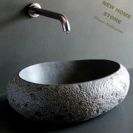 Stone Bowl Sinks Oval Style Countertop