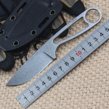 Sharpest D2 steel vintage Case fixed blade knives Tactical Knife StoneWashed Full Tang Camping Neck knife