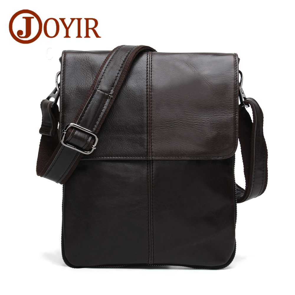 JOYIR Messenger Bag Men Leather Genuine Shoulder Crossbody Bags For Men leather Casual Designer Handbags Male