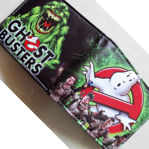 2018 Movie Ghostbusters Logo wallets Purse Multi-Color Leather Man women New W200 2018 movie the terminator t850 skull logo wallets purse multi color 12 cm leather w211
