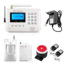 Новое поступление ЖК-дисплей Экран 433 мГц Дистанционное управление дома gsm-сигнализации SMS PSTN двойной сетевой безопасности дома gsm сигнализация Системы