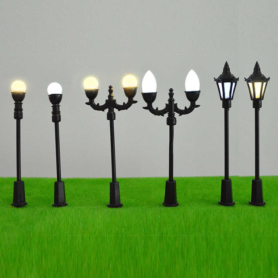 Skala Model pociągu układ kolejowy ulicy led Lampposts/światła u nas państwo lampy architektoniczne modalnego wykonania układ układ sceny