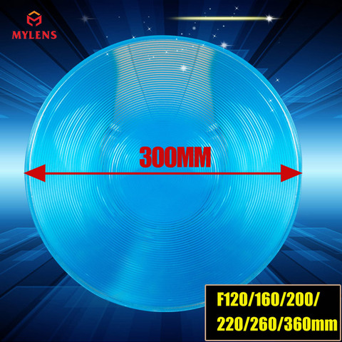 Fresnel de Energia Alta Potência Semáforo Lente Fresnel Rodada Pmma Diâmetro 300mm Comprimento Focal 220mm Solar