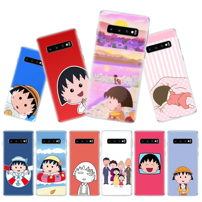 Sakura Momokos Anime Phone Case for Samsung Galaxy S10 Plus S10E Lite A50 A70 A30 A10 A20E M20 M10 A20 A80 A40 Cover in Half wrapped Cases from Cellphones Telecommunications