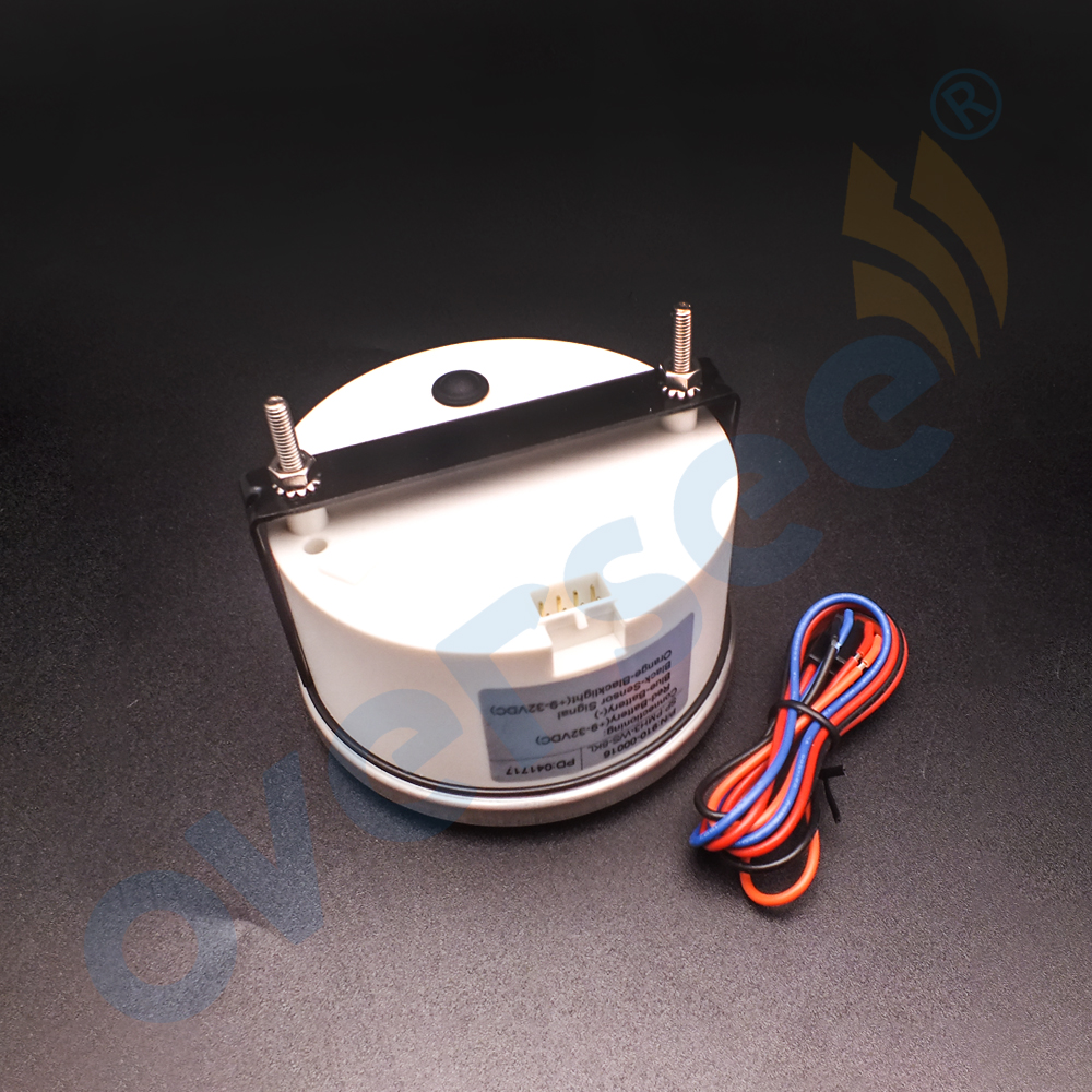 Water Proof Tachometer With LCD Hour Meter with Light inside For Outboard Engine White Color 8000 RPM 4