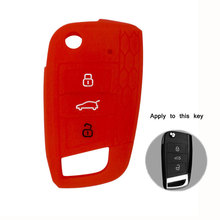 car accessories Key Case For vw Volkswagen Golf 4 5 6 7 Passat B8 B7 Tiguan Polo Beetle Bora Key Bag Cover Holder Keychain 3 buttons silicone car key cover case for vw golf 4 5 6 7 bora jetta polo mk4 mk6 bora passat b5 b6 superb tiguan beetle