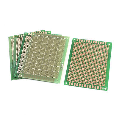 5pcs 7x9 7 x 9cm FR-4 Single Side Prototype PCB Circuit Universal Board gift 54pcs 45 1 moxa roll wholesale