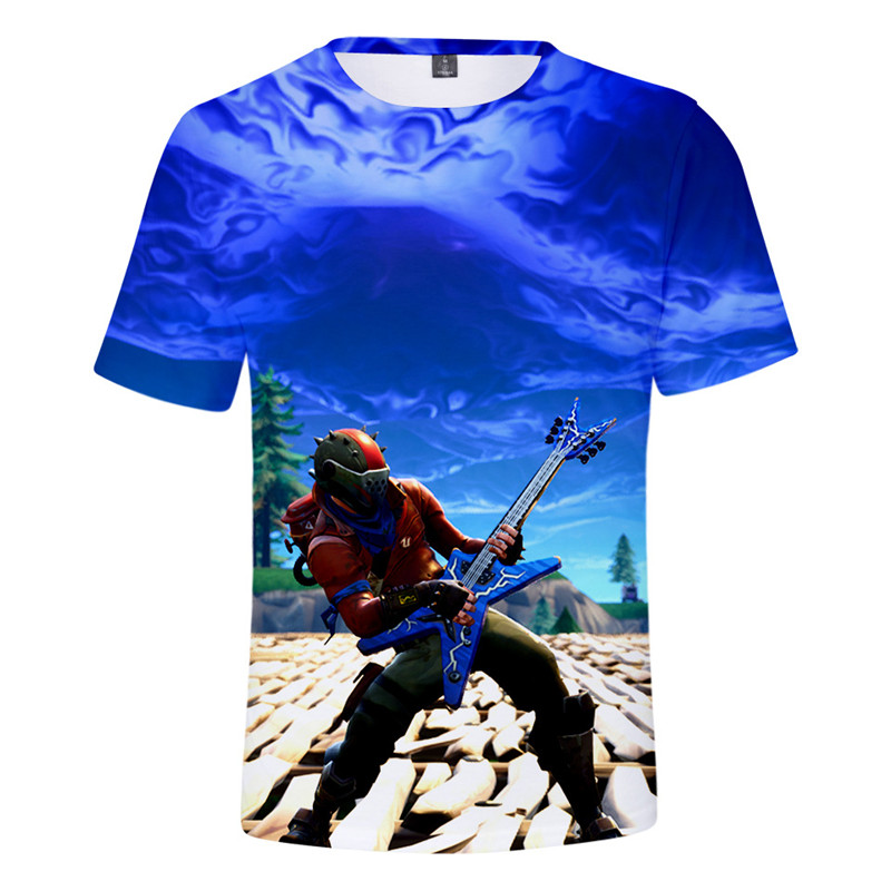 FortnitedCosplay Men's Fashion 3D Comics Game Casual Festival Halloween Cosplay Streetwear Short Sleeve T-Shirt