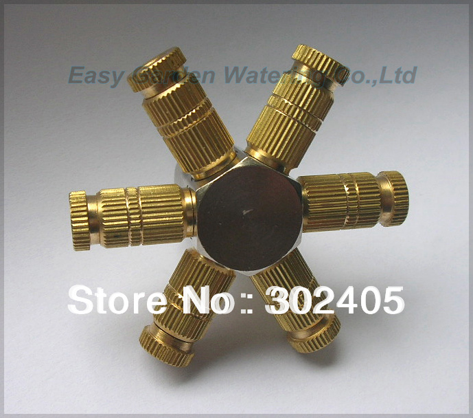 (<font><b>20</b></font>~80bar)Humidification Brass nozzle. Mist cooling nozzle(6pcs <font><b>for</b></font> one <font><b>set</b></font>). Free Shipping