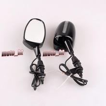 Черный LED Заднего Заднего Вида Крыло Боковые Зеркала Для Suzuki Katana GSX 600 750 1998-2006 GSXR 600 750/1000 1992-2005