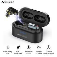 SYLLABE-Auriculares inalámbricos S101 con Bluetooth V5.0, dispositivos originales con reducción de ruido y control de volumen
