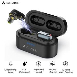 Original SYLLABLE S101 bluetooth V5.0 bass earphones wireless headset noise reduction SYLLABLE S101 Volume control earbuds(China)