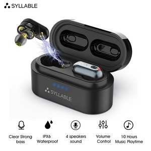 SYLLABLE Wireless Headset Earbuds Bass-Earphones Volume-Control Bluetooth V5.0 Noise-Reduction