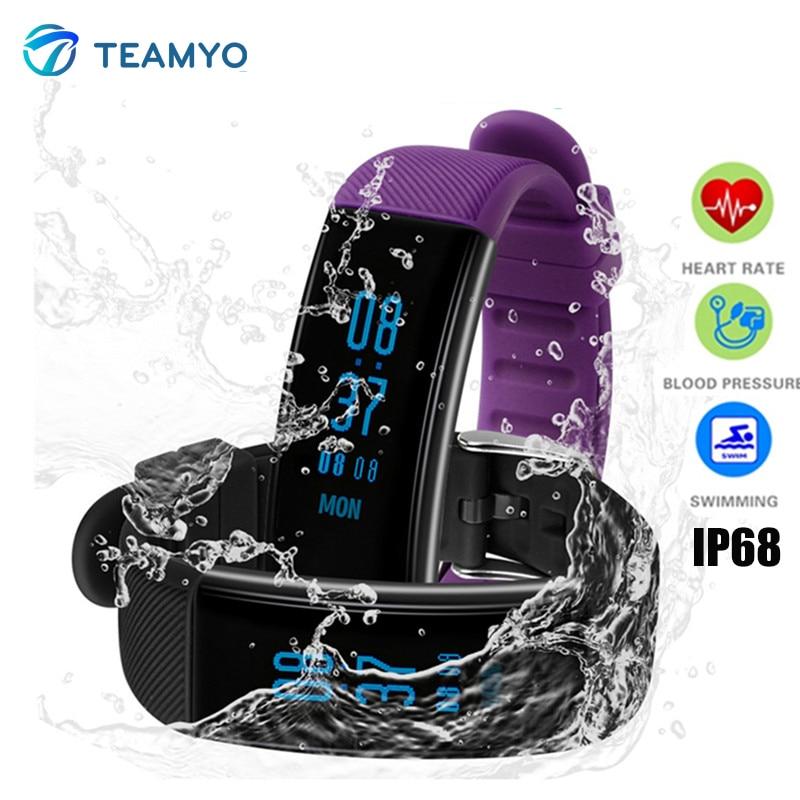 Teamyo DB03 Smart wristband Watches Blood Pressure Fitness Tracker Heart Rate Monitor cardia Smart Band Waterproof