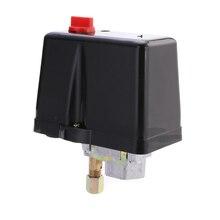 Válvula de controle do interruptor de pressão 120 v/380 v 16a dos compressores de ar do interruptor de pressão de 3 fases 90 400 libras por polegada quadrada
