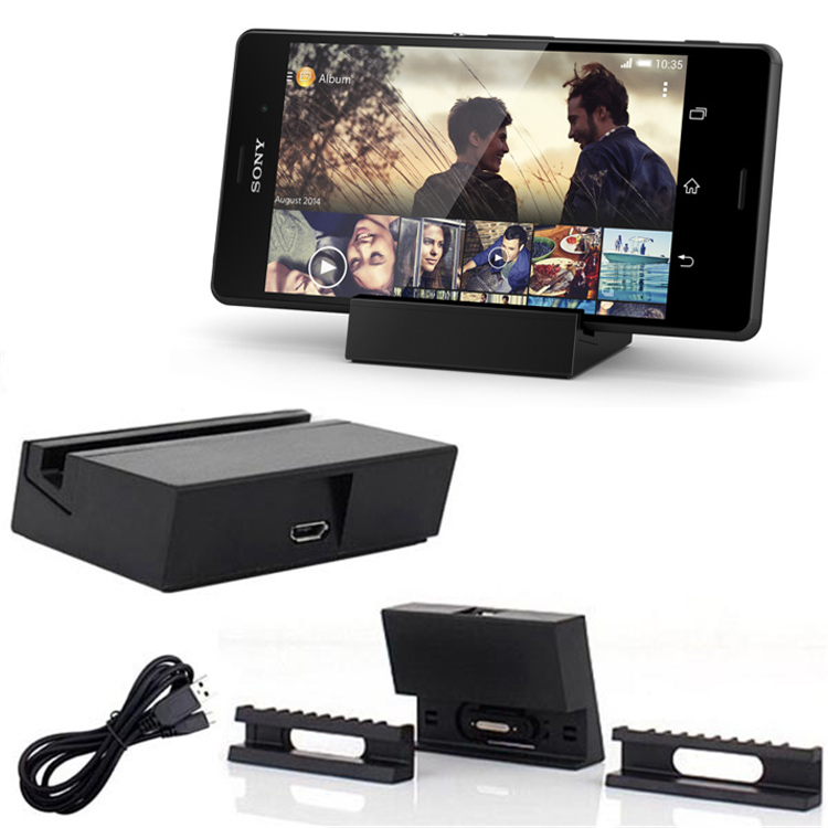 Micro USB or Charging Dock <font><b>Charger</b></font> Cradle Station Holder for Sony <font><b>Xperia</b></font> Z5 Z4 <font><b>Z3</b></font>+ E6533 <font><b>Z3</b></font> <font><b>Compact</b></font> D5833 D5803 Z2 Z1 Z1S mini