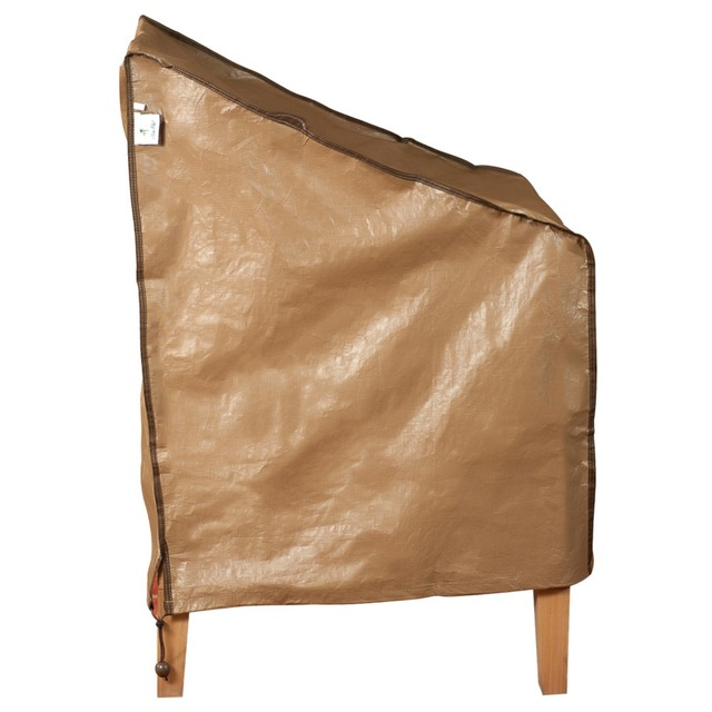Abba Patio Outdoor Patio Single Porch Leisure Chair Cover, Water Resistant, 28'' L x 25'' W x 34'' H, Brown