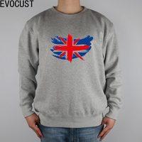 British Schetched Union Jack Flag Stock Photo men Sweatshirts Thick Combed Cotton