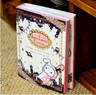 Free Shipping Kawaii Sentimental Circus Rabbit Notepad / Memo / 6 Fold Sticky Note Pad / Notebook Retail