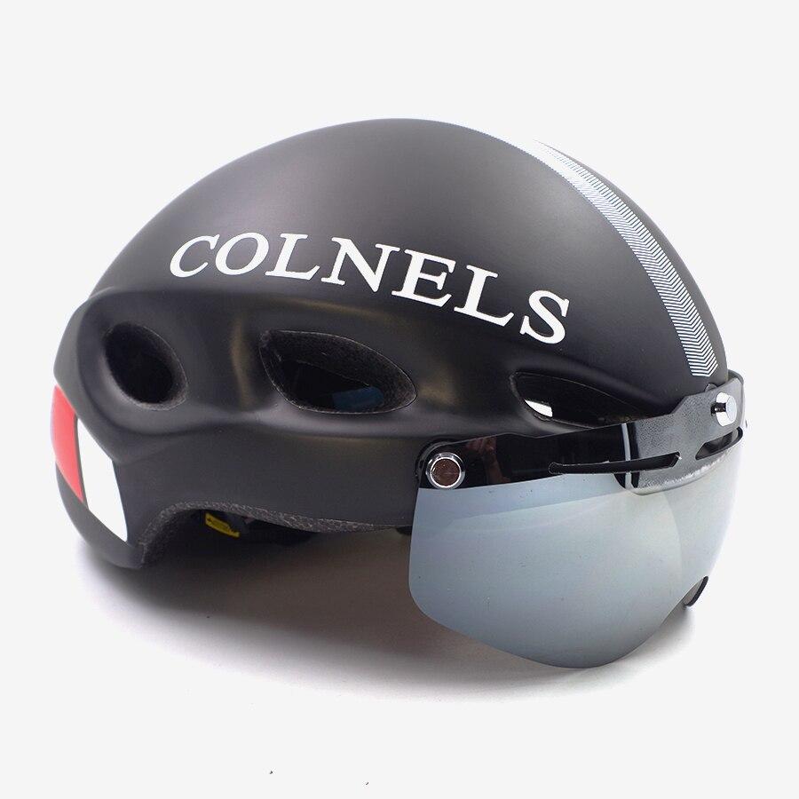 Colnels route vélo casque de vélo avec des lunettes lunettes triathlon vélo de Course contre la Montre tt casque femme mens protection des yeux
